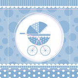 Blue boy baby stroller Royalty Free Stock Images