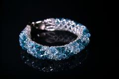 Blue bracelet. Stock Image