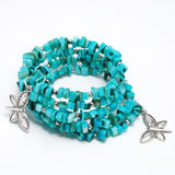 Blue bracelet Stock Photos