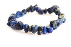 Blue bracelet Stock Images