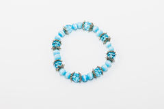 Blue bracelet Stock Image