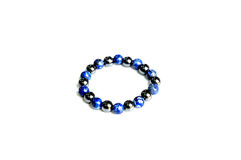 The blue bracelet. This nice bracelet is made from stone Royalty Free Stock Photos