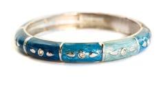 Blue bracelet stock photo