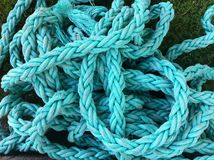 Blue braided rope pattern Stock Image