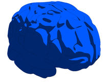 Blue brain Stock Photography