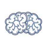 Blue brain cartoon Stock Images