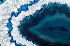 Blue Brazilian geode Royalty Free Stock Photography