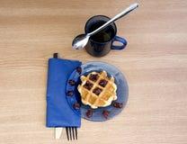 Blue breakfast Royalty Free Stock Photos