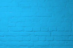 Blue Brick Background Stock Photo