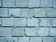 Blue brick breeze wall Stock Photos