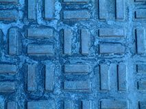 Blue brick mosaic Stock Photos
