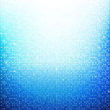 Blue Brick pixel mosaic abstract background vector illustration Royalty Free Stock Photography
