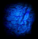 Blue brick stone wall Royalty Free Stock Image
