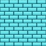 Blue azure brick texture background Royalty Free Stock Images