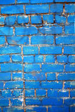 Blue brick wall. The blue brick wall old and grunge surface Stock Images