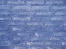 Blue brick wall. Close-up of washed blue brick wall stock photos