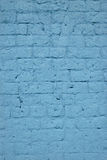 Blue Brick Wall. Old brick wall painted blue Royalty Free Stock Photos