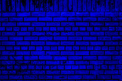 Free Blue Brick Wall Stock Images - 33707504