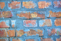 Blue brick wall Stock Photography
