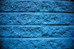 Blue Brick Wall Background Stock Photography