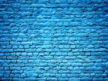 Blue brick wall background texture for design Royalty Free Stock Photo