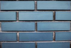 Blue brick wall for background stock images