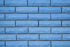 Blue brick wall Stock Photography