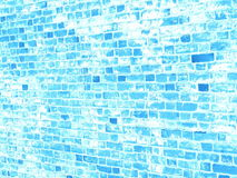 Blue brick wall grunge texture for your design Royalty Free Stock Image