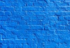 Blue brick wall Stock Image