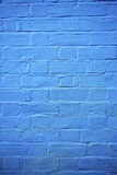 Blue brick wall Stock Photos