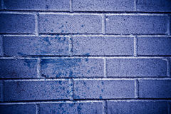 Blue Brick wall texture Stock Photography