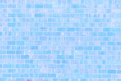 Blue brick wall texture background Royalty Free Stock Photo