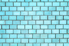 Blue brick wall texture, color background stone Royalty Free Stock Photos