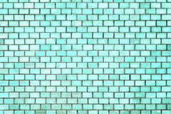 Blue brick wall texture, color background stone Royalty Free Stock Images