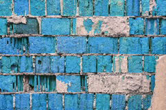 Blue brick wall texture Stock Photo