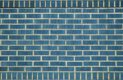 Blue bricks. A brick wall made from blue bricks royalty free stock photo