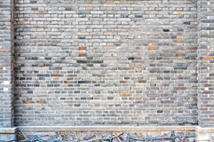 Blue bricks wall background Stock Photography