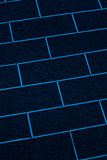 Blue bricks wall closeup abstract Stock Photo