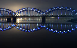 Blue bridge Stock Photos