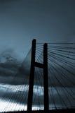 Blue Bridge. Bridge in sunset in blue Stock Images