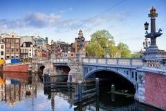 Blue Bridge in Amsterdam Royalty Free Stock Photos