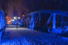 Blue bridge in Bals, Romania Stock Photography