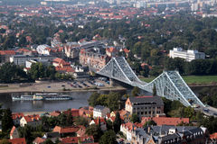 Blue bridge Dresden. Sightseeing attraction in Dresden called the Blue bridge Stock Image