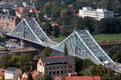 Blue bridge Dresden. Sightseeing attraction in Dresden called the Blue bridge Stock Photography