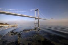 Blue, bridge and fog royalty free stock photo