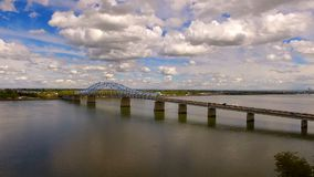 The Blue Bridge Intercity Columbia Crossing River Kennewick Pasco Washington stock video