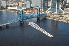 Blue Bridge Jacksonville Florida Royalty Free Stock Images
