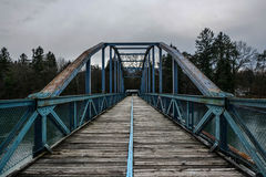 Blue bridge Royalty Free Stock Photography