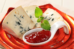 Blue Brie cheese Royalty Free Stock Image
