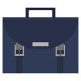 Blue briefcase icon Stock Photos